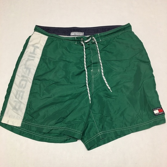 c0fd958f4d5 Tommy Hilfiger Swim | Vintage Green Trunks Shorts | Poshmark